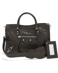 Balenciaga - Classic Metallic Edge City Small Leather Bag - Lyst