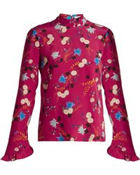 Erdem - Lindsay Hideko Print Silk Blouse - Lyst