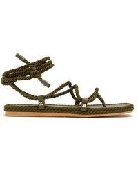 Valentino - Torchon Satin-rope Wraparound Sandals - Lyst