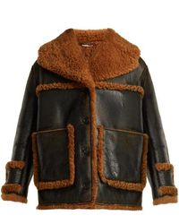 Miu Miu - Oversized Shearling Coat - Lyst