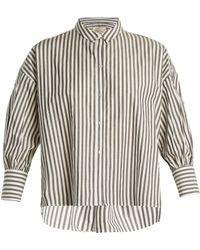 Nili Lotan | Fulton Striped Cotton Shirt | Lyst