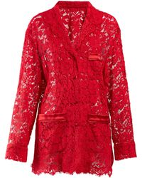 Dolce & Gabbana - Floral Lace Pyjama Top - Lyst