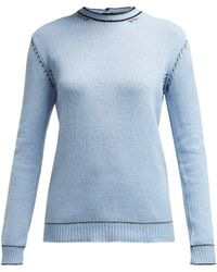 Marni - Buttoned Back Cashmere Sweater - Lyst
