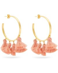 Marte Frisnes - Raquel Gold-plated Tassel Hoop Earrings - Lyst