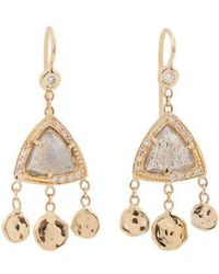 Jacquie Aiche - Diamond & Rose-gold Earrings - Lyst