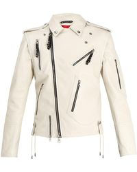 Alexander McQueen | Detachable-sleeve Leather Jacket | Lyst