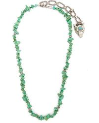 Gucci - Turquoise Stone-embellished Silver Necklace - Lyst