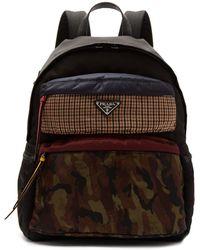 Prada - Panelled Nylon Backpack - Lyst