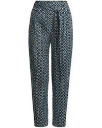 Pleats Please Issey Miyake - Batik-print Slim-leg Pleated Trousers - Lyst
