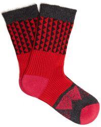 Burberry - Triangle Jacquard-knit Socks - Lyst