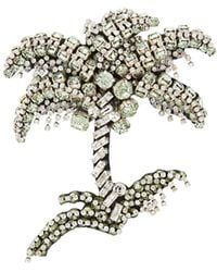 N°21 Crystal Embellished Palm Tree Brooch