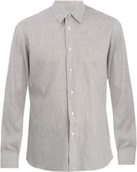 Brioni | Single-cuff Striped Linen Shirt | Lyst