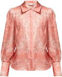 Zimmermann - Heathers Bandana Print Linen Shirt - Lyst