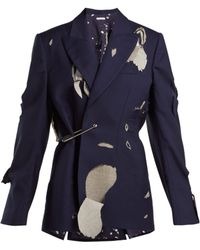 CHARLES JEFFREY LOVERBOY - Hole Cut Out Safety Pin Wool Blazer - Lyst