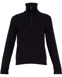 Lanvin - Rack-stitched Wool-blend Jumper - Lyst
