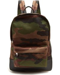 A.P.C. - Mickael Camouflage-print Canvas Backpack - Lyst