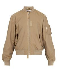 JW Anderson - Ribbed-trimmed Bomber Jacket - Lyst