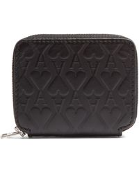 AMI - Ace Of Hearts-embossed Leather Wallet - Lyst