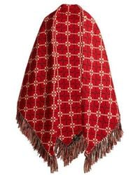 Gucci - Gg Fringed Woven Wool Blanket - Lyst