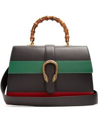 Gucci - Dionysus Bamboo-handle Large Leather Tote - Lyst