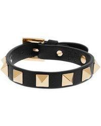 Valentino - Rockstud Wraparound Leather Bracelet - Lyst