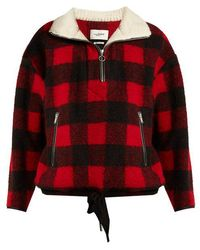Étoile Isabel Marant - Gilas Zip-neck Checked Jacket - Lyst