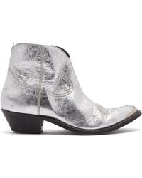 Golden Goose Deluxe Brand - Young Distressed Leather Cowboy Ankle Boots - Lyst