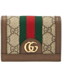 Gucci - Ophidia Gg Supreme Web Stripe Canvas Wallet - Lyst