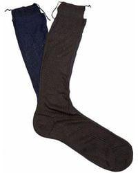 Raey - Set Of Three Roll Top Silk Socks - Lyst