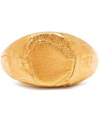 Alighieri - False Promises Gold-plated Signet Ring - Lyst