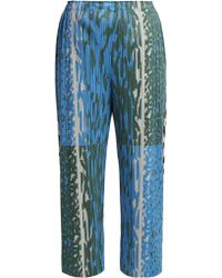 Pleats Please Issey Miyake - Flash Animal Print Pleated Trousers - Lyst