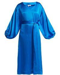Rhode Resort - Delilah Balloon-sleeved Silk Dress - Lyst