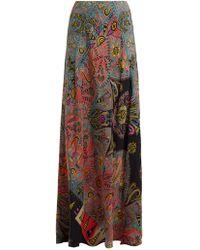Etro - Varo Paisley Print Silk Skirt - Lyst