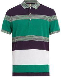 Missoni - Striped Cotton Polo Shirt - Lyst