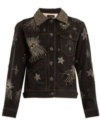 Isabel Marant - Eloise Crystal-embellished Denim Jacket - Lyst