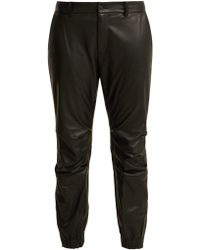 Nili Lotan - Cropped Leather Trousers - Lyst