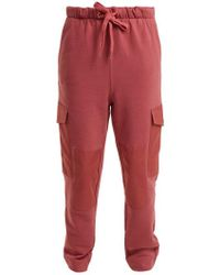 See By Chloé - Mid-rise Cotton-jersey Track Pants - Lyst