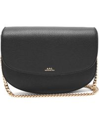 A.P.C. Geneve Grained Leather Cross Body Bag