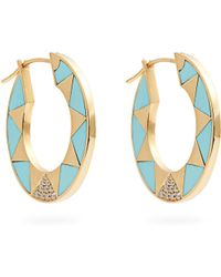 Marc Alary - Diamond, Turquoise & Yellow-gold Earrings - Lyst