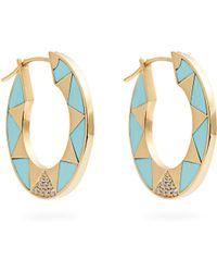 Marc Alary | Diamond, Turquoise & Yellow-gold Earrings | Lyst