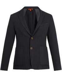 Barena - Single-breasted Checked Wool-blend Blazer - Lyst