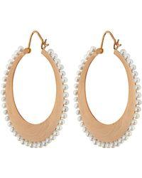Irene Neuwirth - Akoya Pearl & Rose-gold Earrings - Lyst