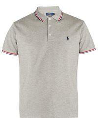 Polo Ralph Lauren - Stripe-trimmed Cotton-piqué Polo Shirt - Lyst