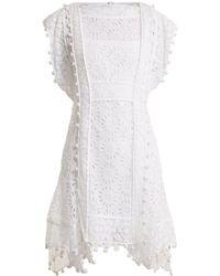 Isabel Marant - Kunst Pompom-trimmed Broderie-anglaise Dress - Lyst