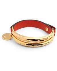 Chloé - Nile Leather Bracelet - Lyst