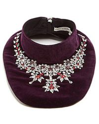 Mary Katrantzou - Crystal-embellished Velvet Bib Necklace - Lyst