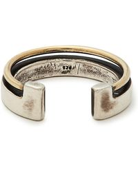 Title Of Work - 18kt Gold And Silver Ring - Lyst