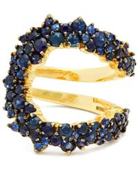 Ana Khouri - Mirian 18kt Gold And Sapphire Ring - Lyst