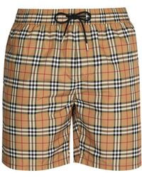Burberry - Vintage-check Swim Shorts - Lyst