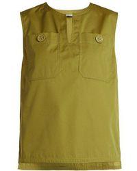 Bottega Veneta - Sleeveless Cotton-blend Top - Lyst